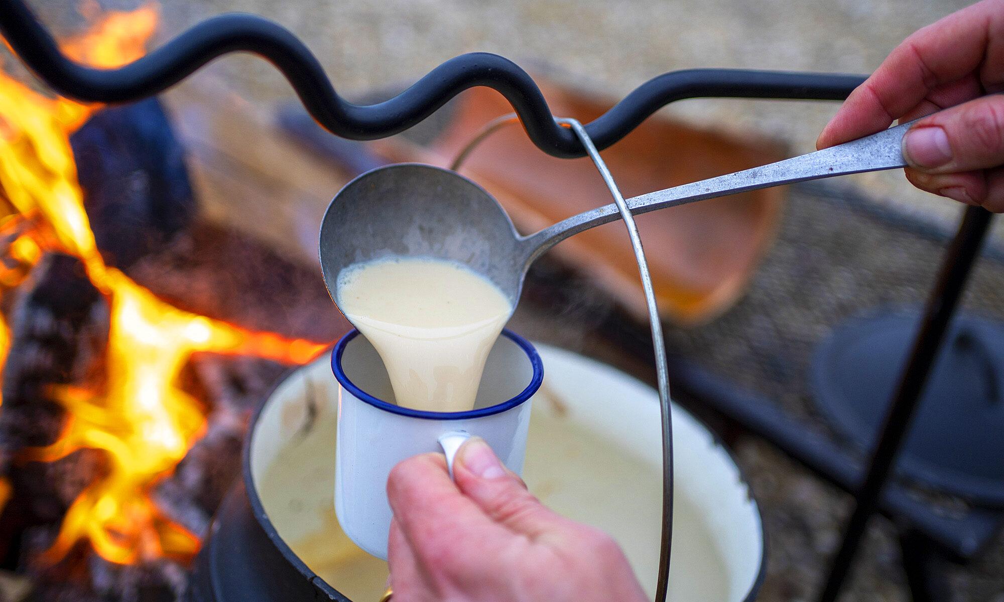 Trappermilch zum Aufwärmen